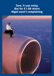 Sure, it was noisy. But for £1.98 return Nigel wasn't complaining.