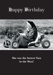 Happy Birthday ... She was the fastest Nun in the west!
